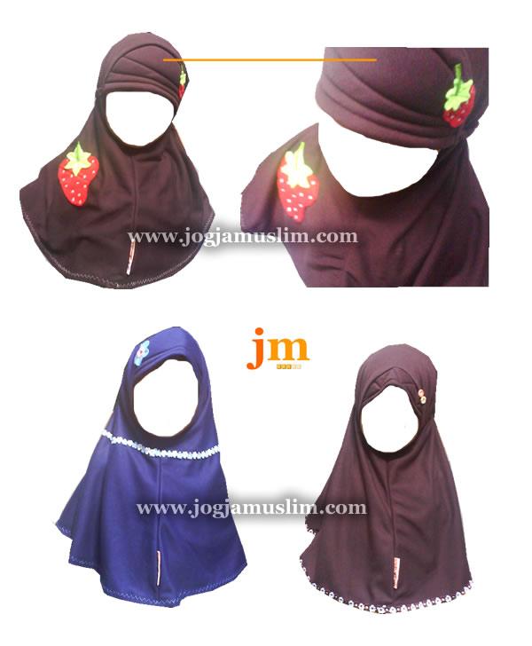 Jual Jilbab Anak Lucu Usia 4 - 5 Tahun Bahan Kaos